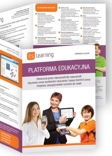 ITS learnign - folder promocyjny platformy e-learnignowej