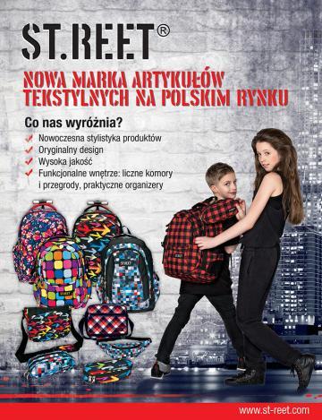 Reklama STREET - nowej marki artykułów tekstylnych