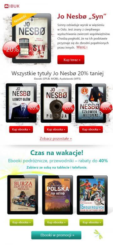 Newsletter dla ibuk.pl - czas na wakacje