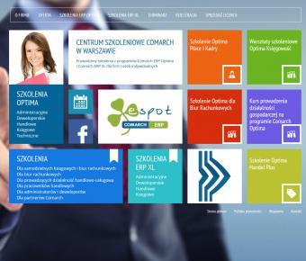 Strona www Comarch Szkolenia