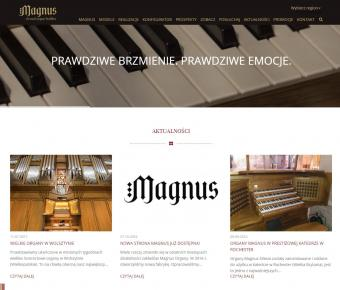 Magnus Organy - strona internetowa