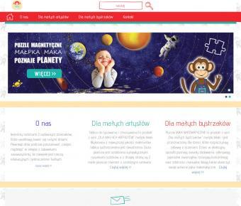 Strona internetowa producenta zabawek edukacyjnych