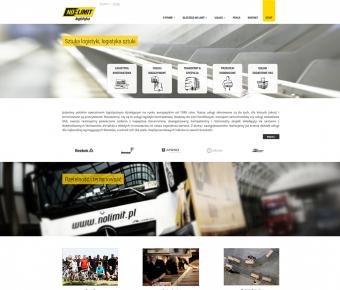 Strona www operatora logistycznego No Limit