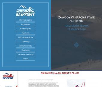 Strona www zawodów narciarskich na Kasprowym