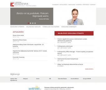 Strona www - szkolenia dla sekretarek
