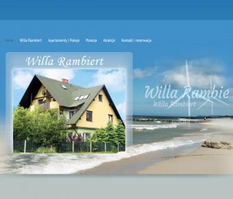 Strona www  - wynajem apartamentów nad morzem